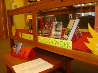 The Banned Books display, located on the main floor of McCain Library