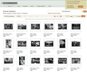 Screenshot of Magnum Photos in ARTstor