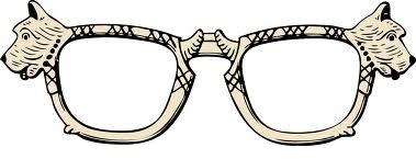 Scottie glasses