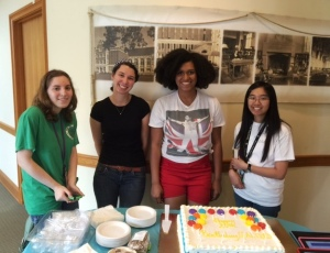 Students and cake