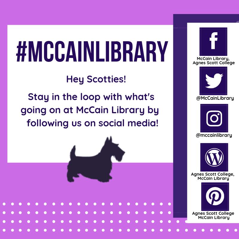 McCain Library Social Media Flyer