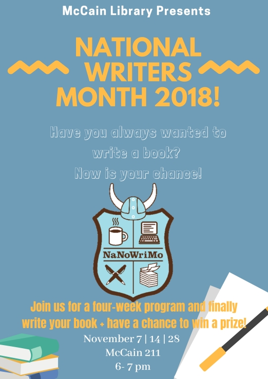 National writers month!
